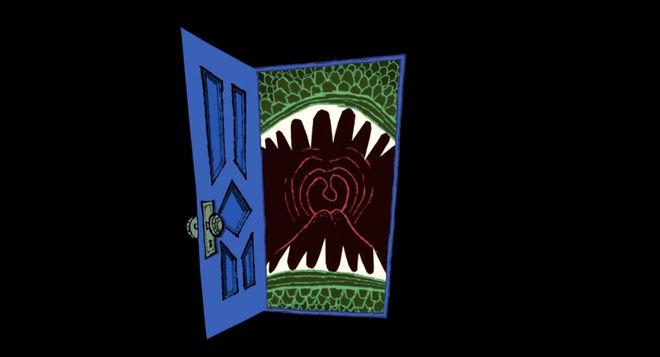 IMAGE: Still - door opening on mouth