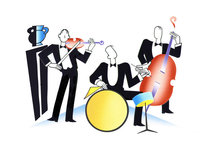 IMAGE: Animation cel - musicians