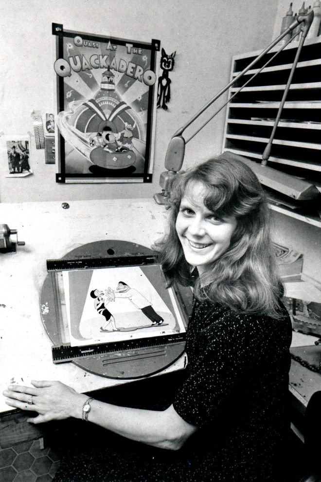 IMAGE: Sally Cruikshank at Snazelle Films, 1978