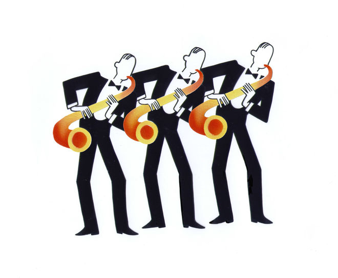IMAGE: Animation cel - saxes