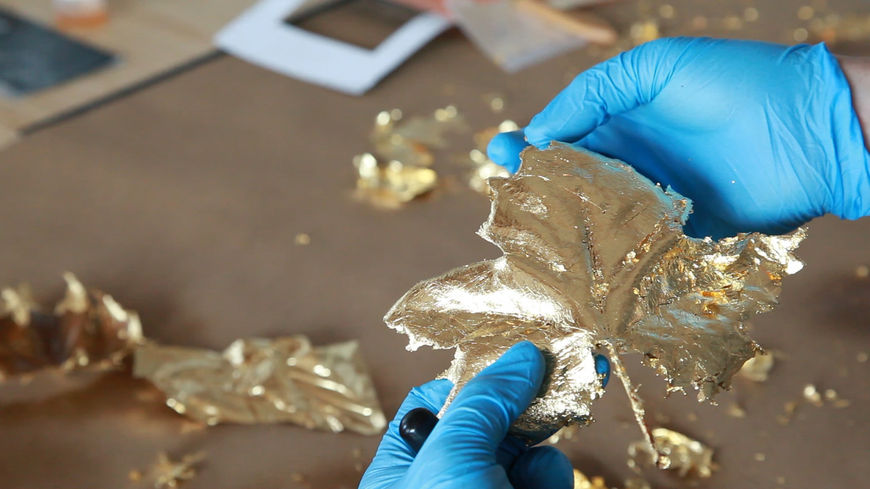 IMAGE: Photo –BTS gold leaf process