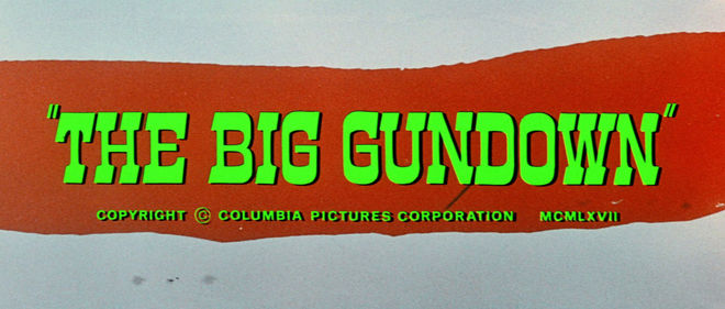 IMAGE: The Big Gundown English Title Card