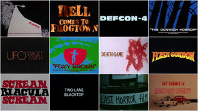 IMAGE: Contact sheet –Vigilantes, Psychopaths, and Road Warriors from 3D to 36DD: B-Movie Title Design of the 1970s & 1980s