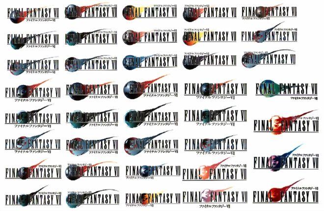 IMAGE: Final Fantasy VII Unused Logo Concepts