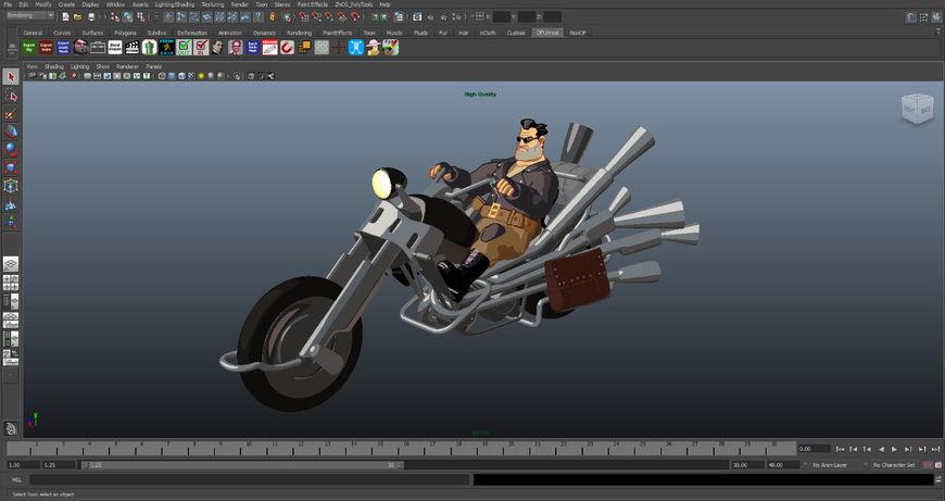 IMAGE: Full Throttle (1995) Updated 3D Bike Model