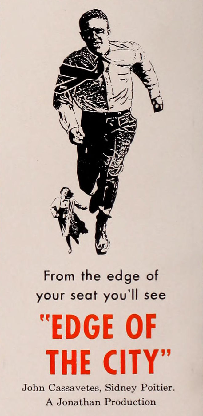 IMAGE: Edge of the City (1957) Trade Ad with Key Art