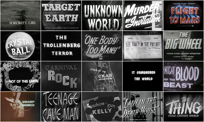 IMAGE: Bottom – Have you read part one? B-movie title design of the 1940s and 1950s They Came From Within