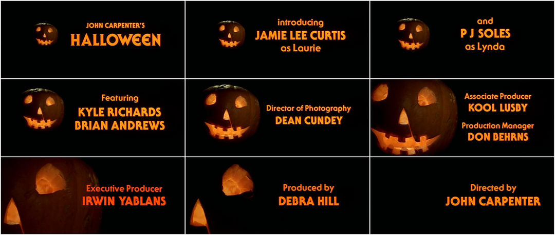 Halloween (1978) — Art of the Title