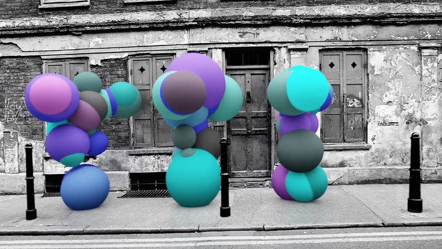 IMAGE: Still –Dancing figures blue trio