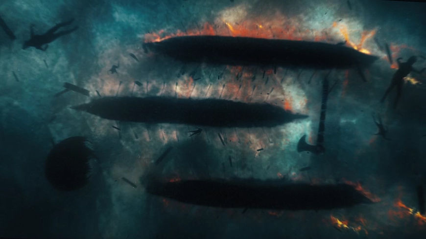 IMAGE: Still –boats on fire from season 4 sequence