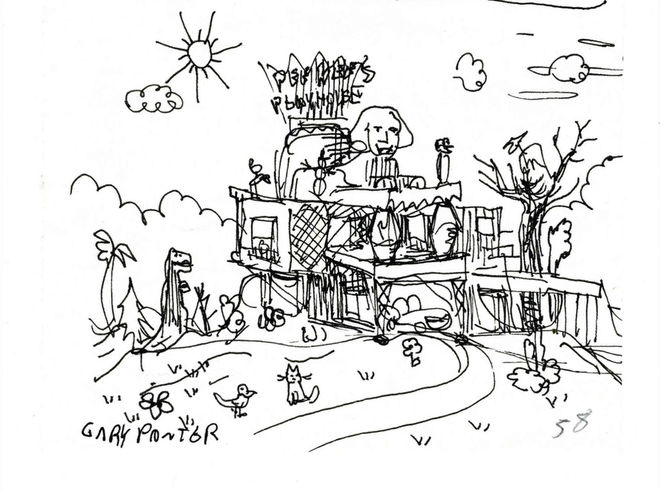 IMAGE: Gary Panter Playhouse Sketch