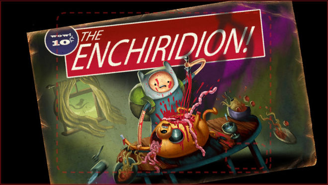 """The Enchiridion!"" alternate title card"