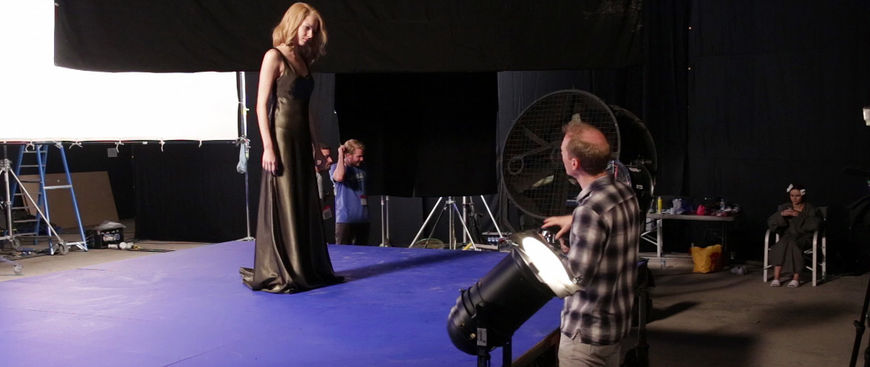 IMAGE: BTS Photo 01 – Woman in dress