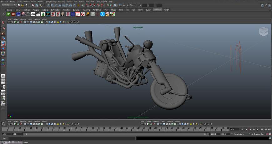 IMAGE: Full Throttle (1995) Original 3D Bike Model