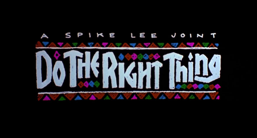 VIDEO: Title Sequence – Do the Right Thing (1989)