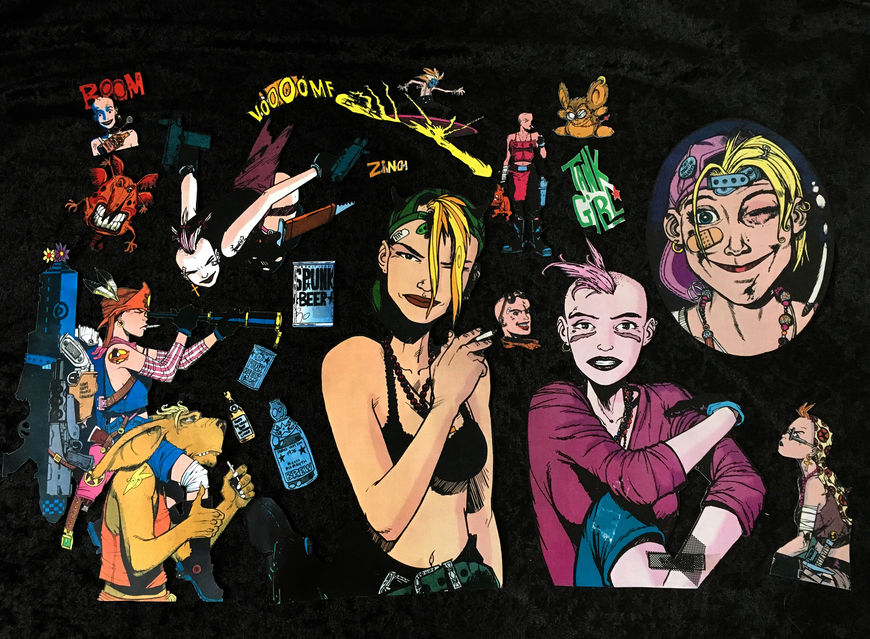 IMAGE: Tank Girl cutouts – 3 tank girl center