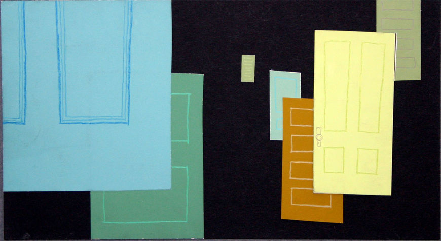 IMAGE: Doors 1 –blue and yellow