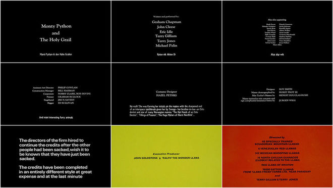 VIDEO: Title Sequence - Monty Python and the Holy Grail