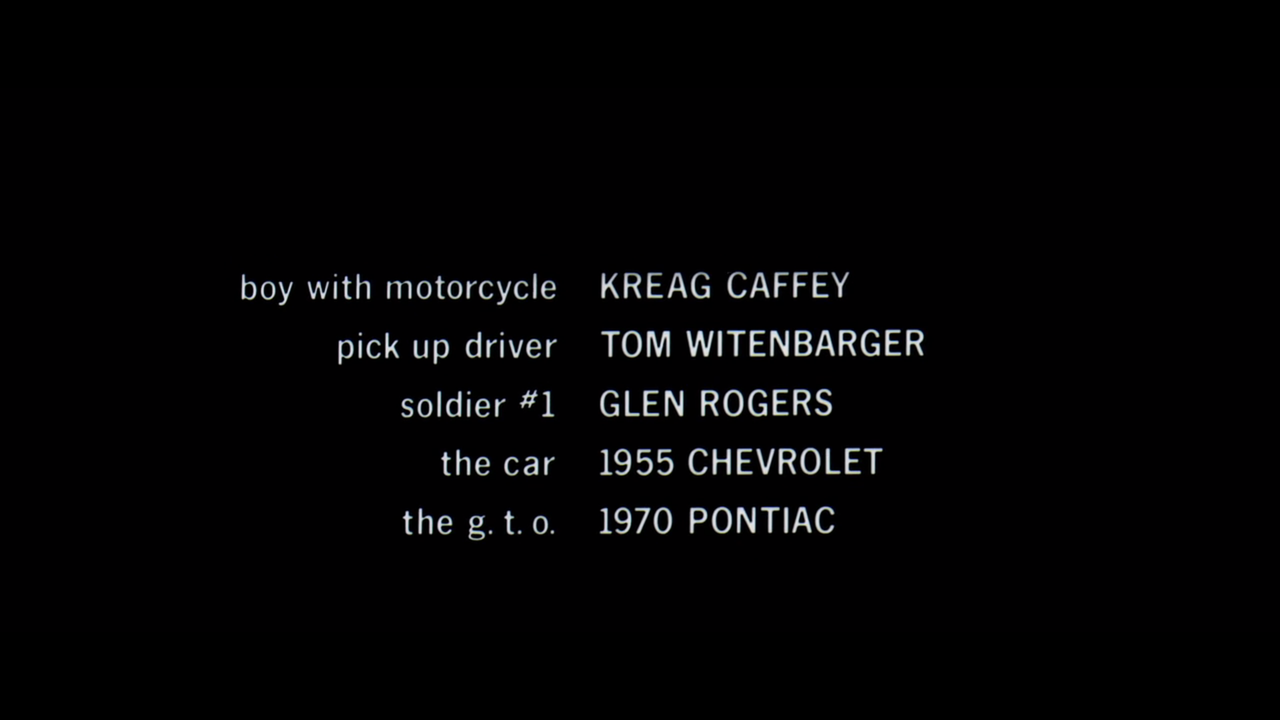 Two Lane Blacktop 1971 Art Of The Title