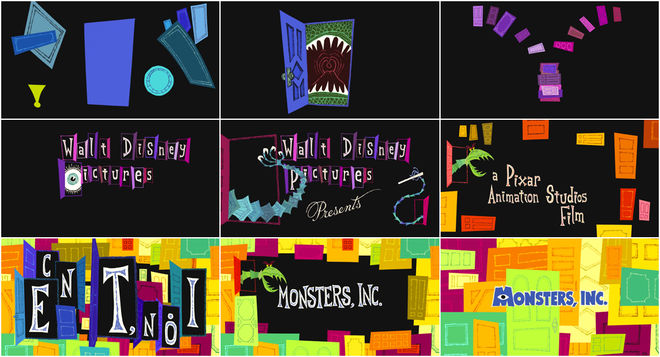 IMAGE: Monsters Inc contact sheet