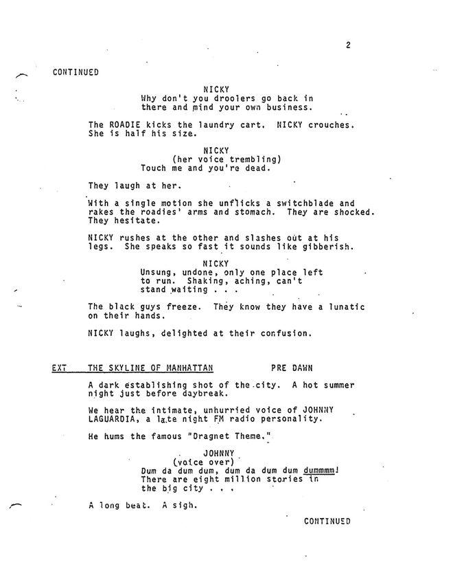 IMAGE: Original screenplay page 2