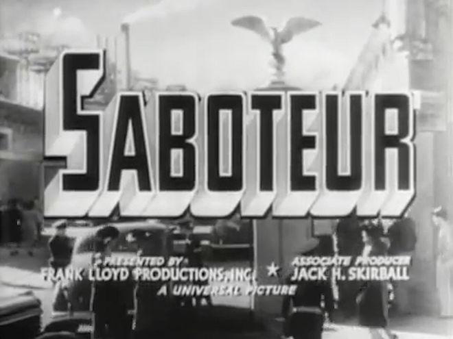 VIDEO: Trailer – Saboteur (1942)