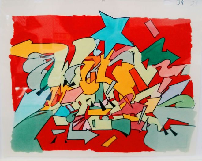 Wild Style main title animation cel. Photograph: Richard Alexander Caraballo