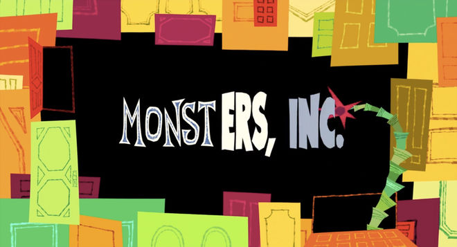 Monsters, Inc  (2001) — Art of the Title