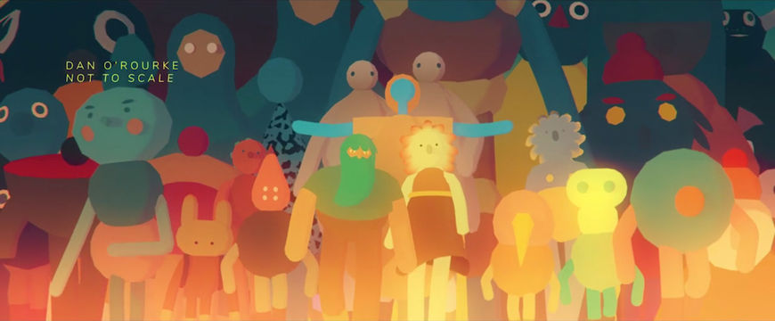 IMAGE: Still - characters arms outstretched