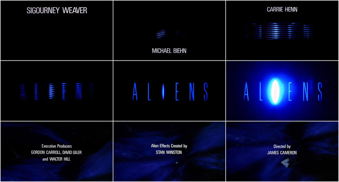 Aliens (1986) — Art of the Title