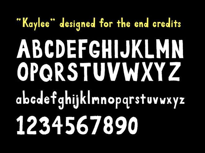 Kaylee typeface example