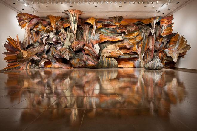 IMAGE: Henrique Oliveira Installation 1