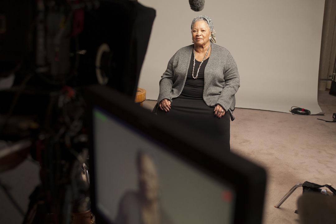 IMAGE: Toni being interviewed on set