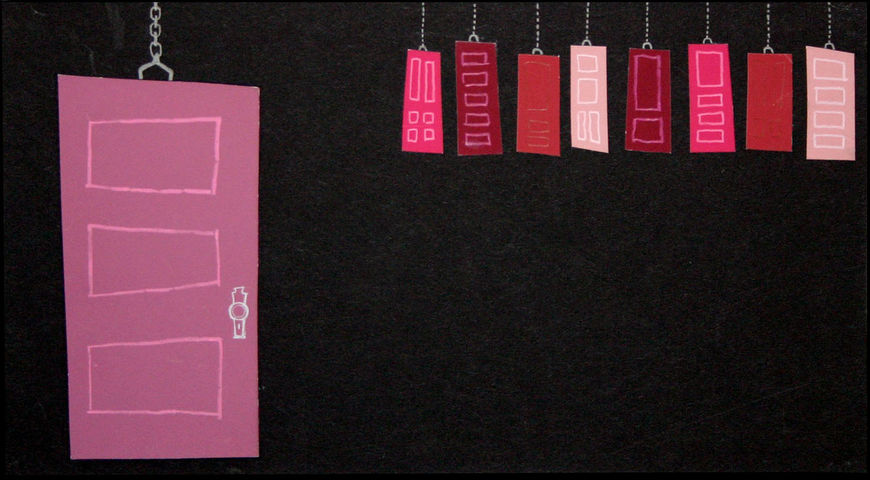 IMAGE: Doors 2 – pink and red