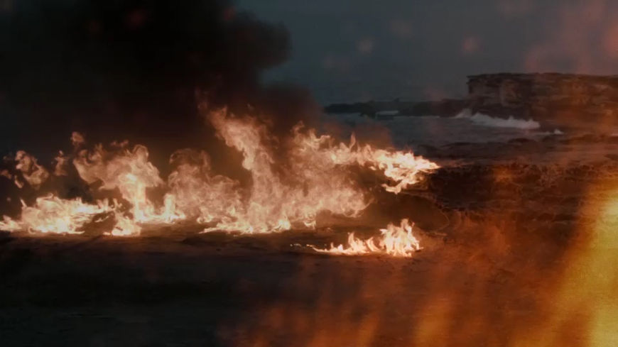 IMAGE: Still – land on fire from season 4 sequence