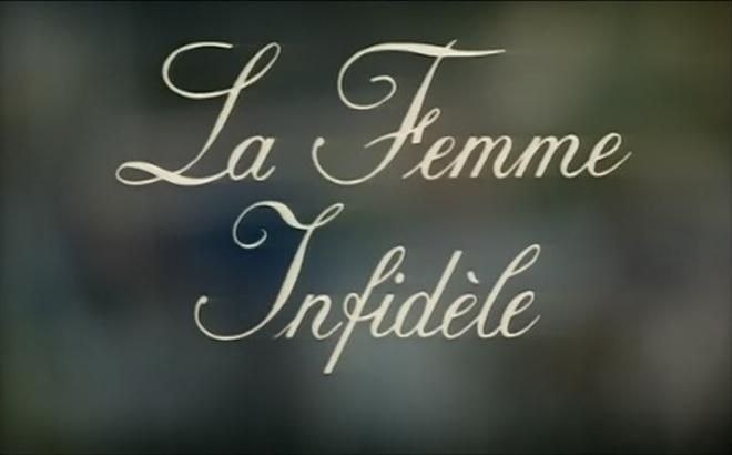 Image: La Femme Infidèle title card Claude Chabrol