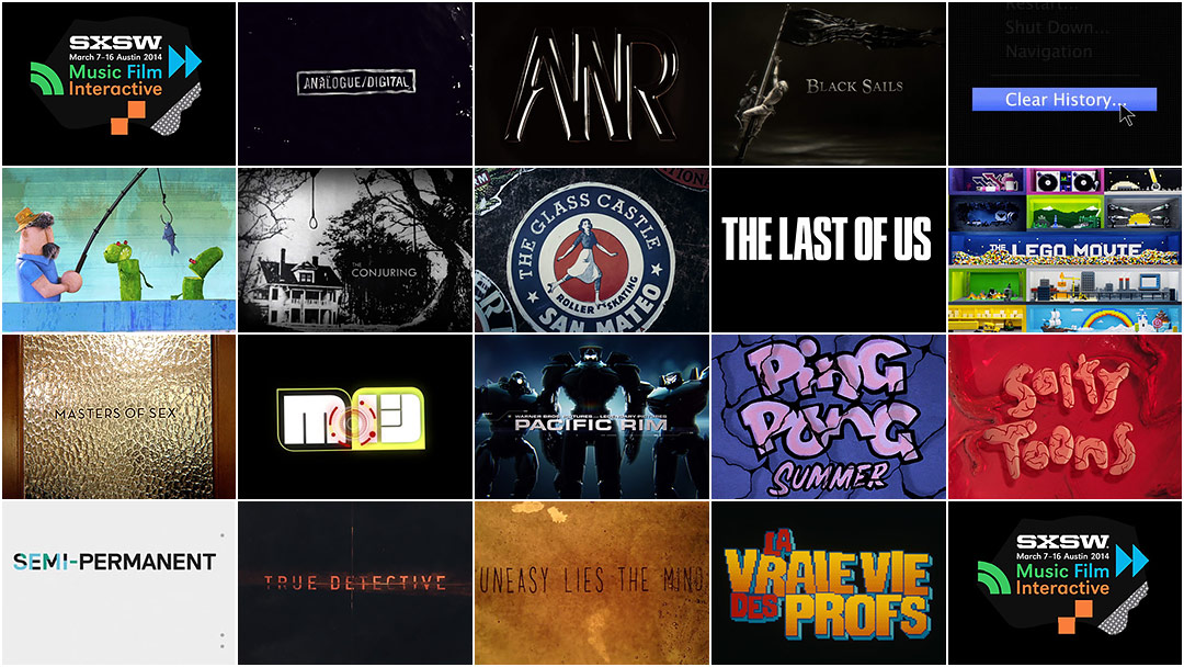 SXSW 2014 Film Awards: Title Design Finalists