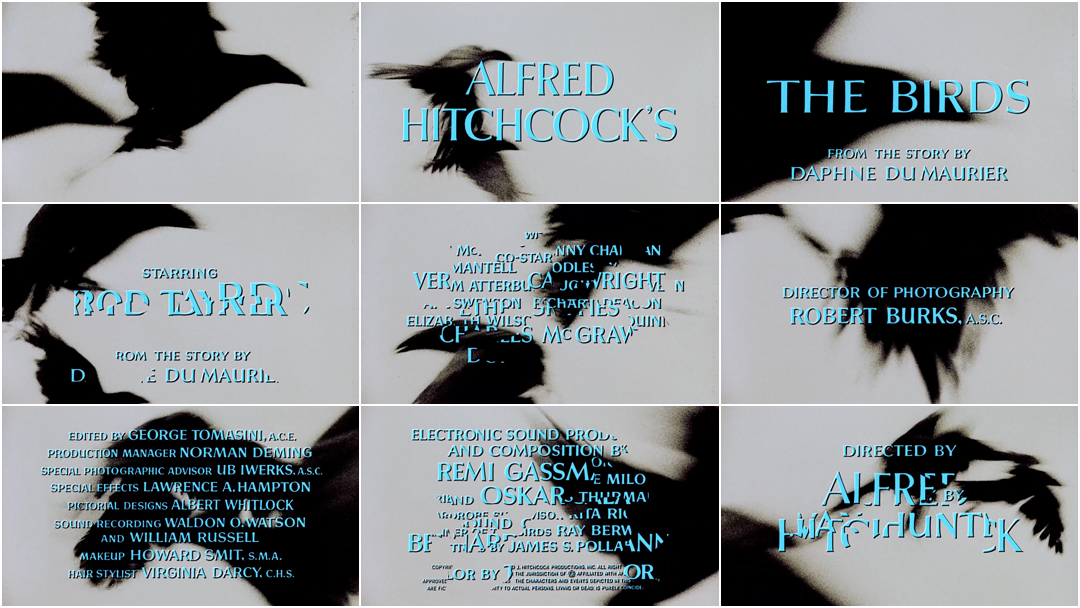 The Birds (1963) — Art of the Title