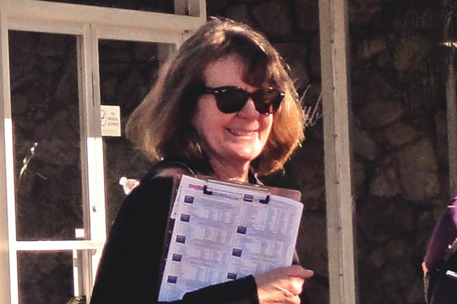 IMAGE: Recent photo of Sally Cruikshank in sunglasses