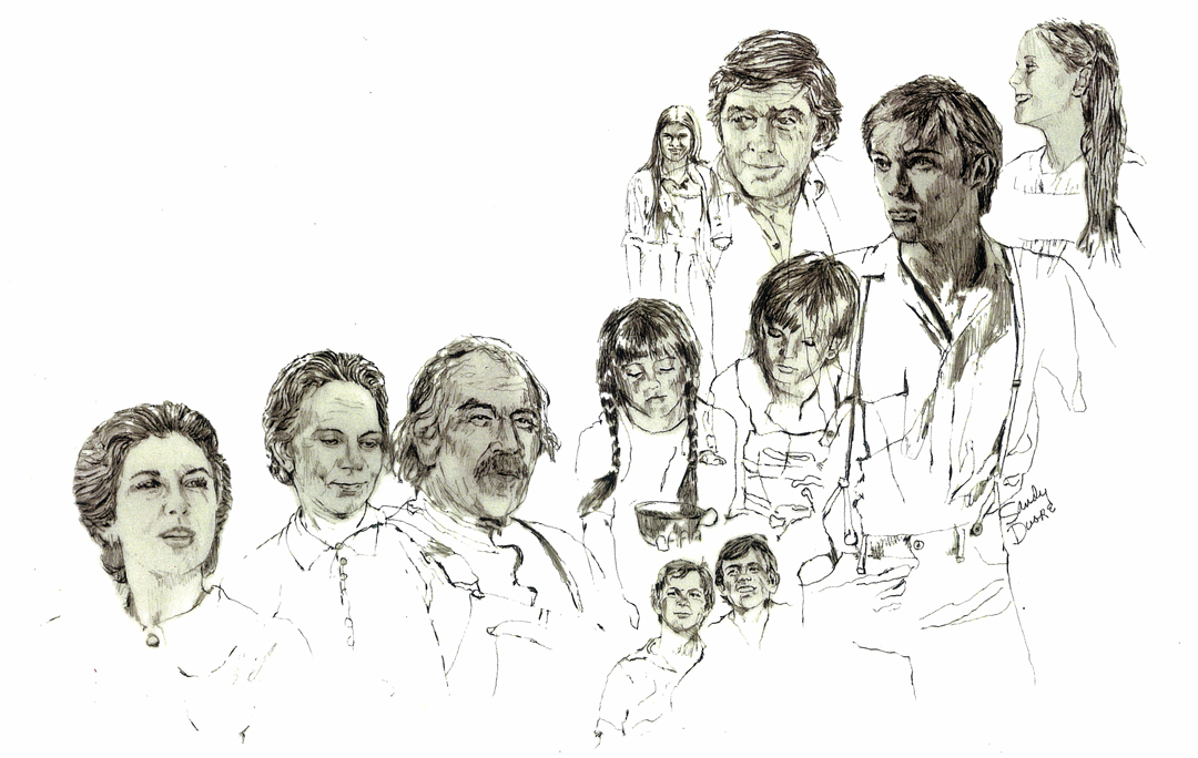 IMAGE: The Waltons - title art illustrations