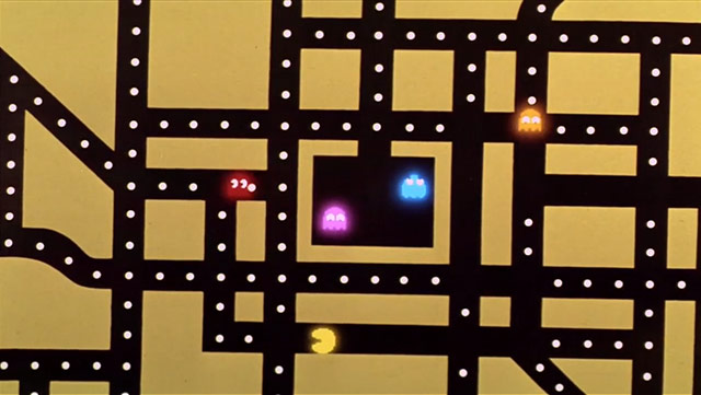 VIDEO: Clip from Top Secret! of animated Pac-Man sequence by Sally Cruikshank