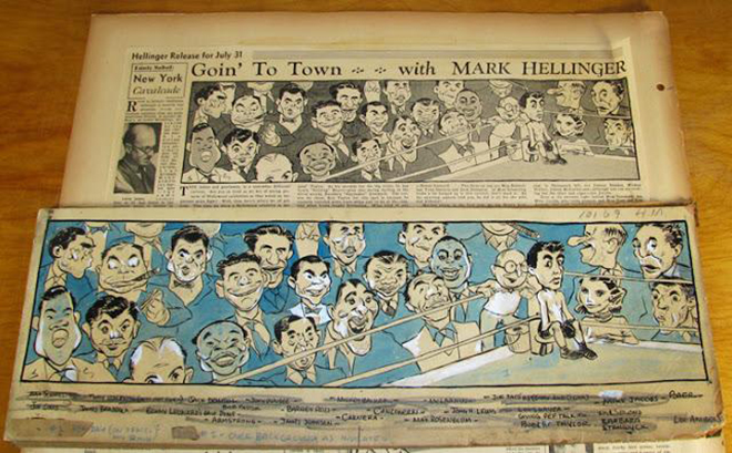 IMAGE: Newspaper drawing - Goin' to Town with Mark Hellinger