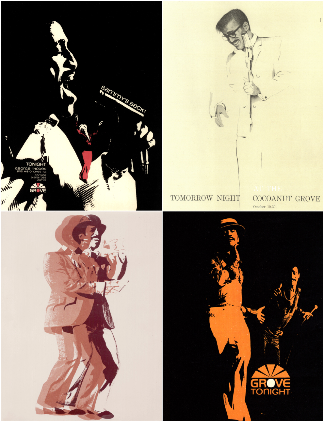 IMAGE: Sammy Davis Jr ads - 4 up