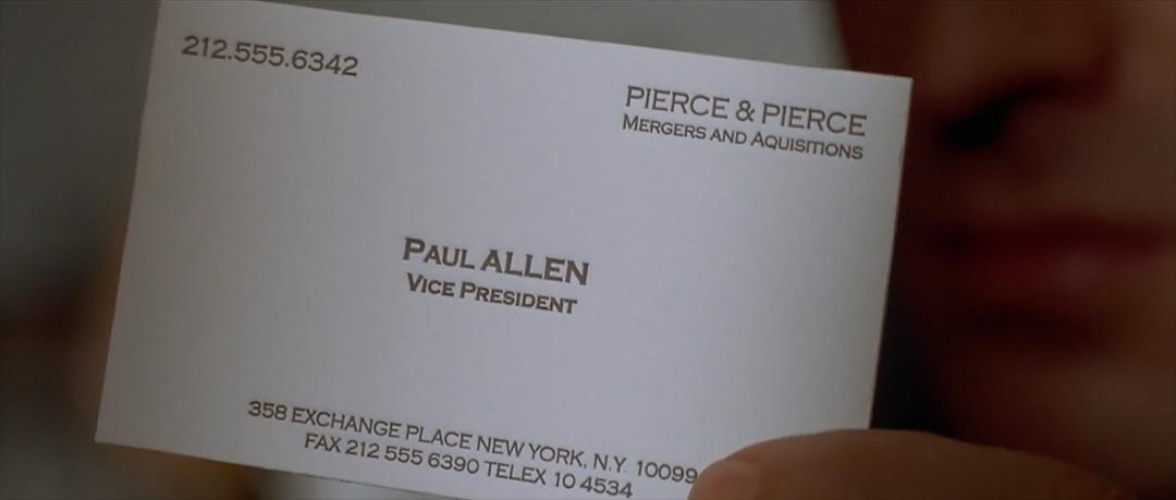 IMAGE: Still - Paul Allen business card