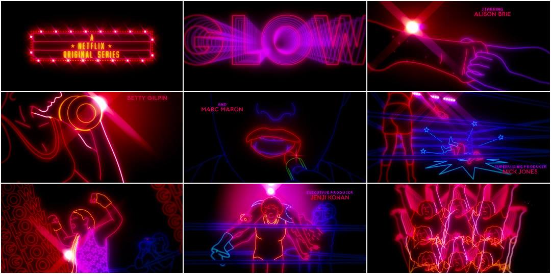 GLOW (2017) — Art of the Title