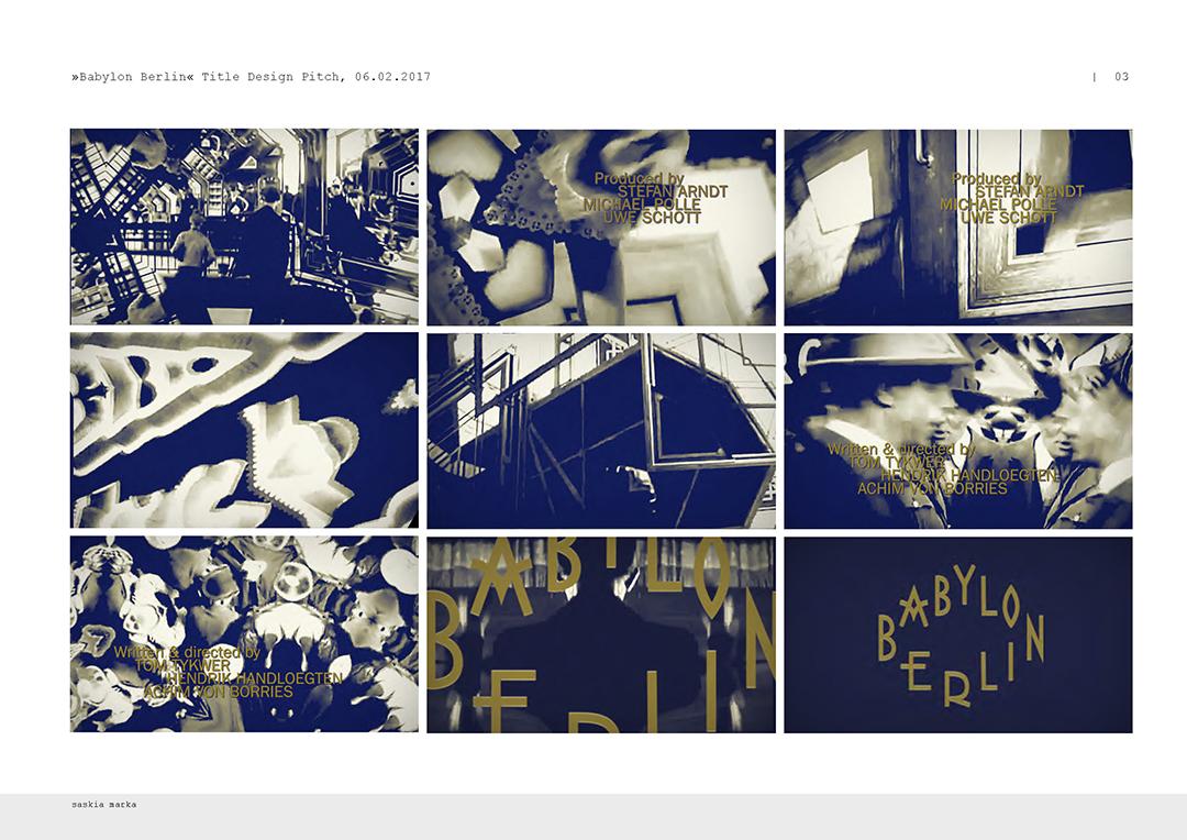 Babylon Berlin (2018) — Art of the Title