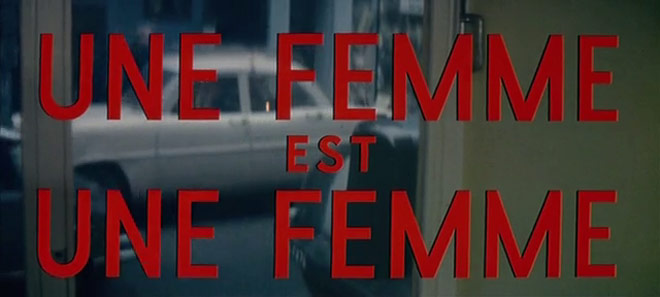 Godard's A Woman is a Woman opening titles
